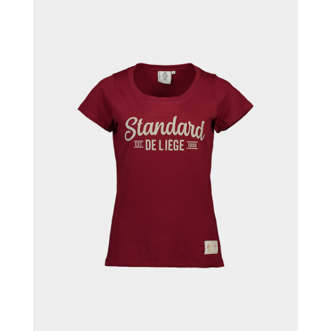TSHIRT BORDEAU FILLES JUNIOR